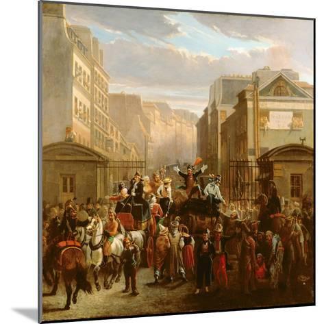 Descente De La Courtille', Belleville-Celestin Francois Nanteuil-Mounted Giclee Print