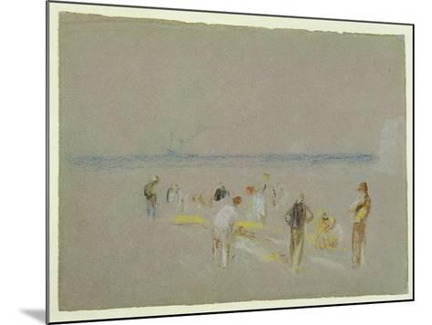 Cricket on the Goodwin Sands (Chalk, W/C and Bodycolour on Paper)-J^ M^ W^ Turner-Mounted Giclee Print