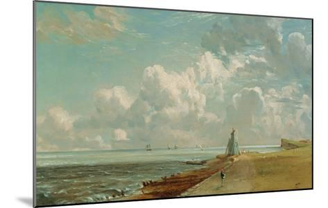 Harwich, the Low Lighthouse and Beacon Hill, c.1820-John Constable-Mounted Giclee Print