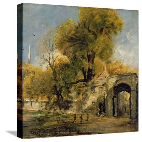 Harnham Gate, Salisbury, c.1820-21-John Constable-Stretched Canvas Print