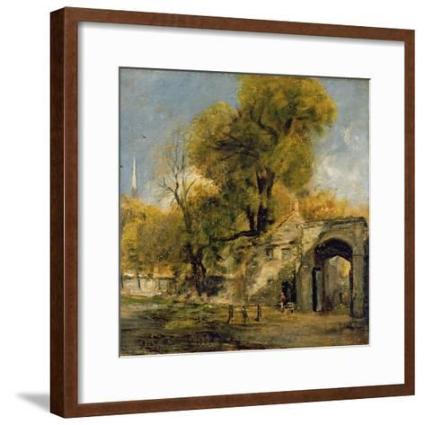 Harnham Gate, Salisbury, c.1820-21-John Constable-Framed Art Print
