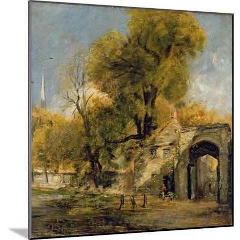 Harnham Gate, Salisbury, c.1820-21-John Constable-Mounted Giclee Print