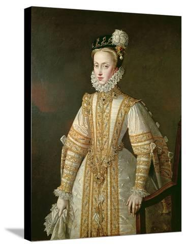 Anne of Austria (1549-80) Queen of Spain, c.1571-Alonso Sanchez Coello-Stretched Canvas Print