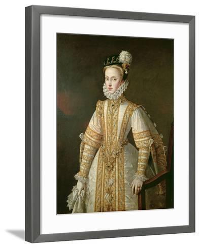 Anne of Austria (1549-80) Queen of Spain, c.1571-Alonso Sanchez Coello-Framed Art Print