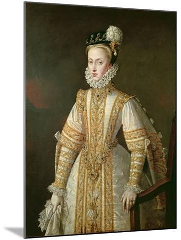 Anne of Austria (1549-80) Queen of Spain, c.1571-Alonso Sanchez Coello-Mounted Giclee Print