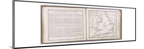 Chart Showing the Sea Coast of England and Wales-Thomas Badeslade-Mounted Giclee Print