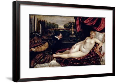 Venus and the Organist, c.1540-50-Titian (Tiziano Vecelli)-Framed Art Print