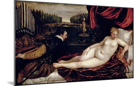 Venus and the Organist, c.1540-50-Titian (Tiziano Vecelli)-Mounted Giclee Print