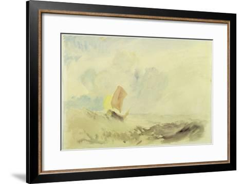 A Sea Piece - a Rough Sea with a Fishing Boat, 1820-30 (W/C on Paper)-J^ M^ W^ Turner-Framed Art Print