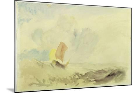A Sea Piece - a Rough Sea with a Fishing Boat, 1820-30 (W/C on Paper)-J^ M^ W^ Turner-Mounted Giclee Print