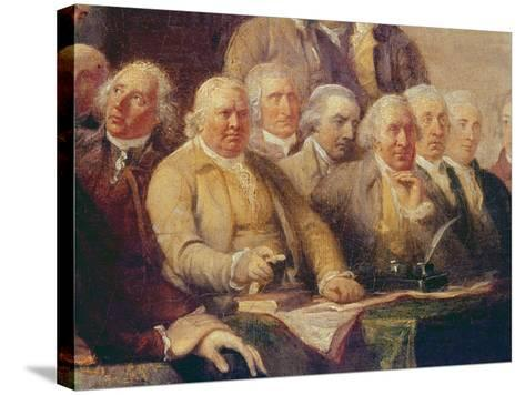 Drafting the Declaration of Independence, 28th June 1776, c.1817 (Detail)-John Trumbull-Stretched Canvas Print