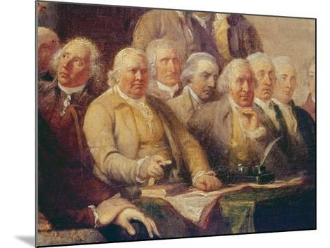 Drafting the Declaration of Independence, 28th June 1776, c.1817 (Detail)-John Trumbull-Mounted Giclee Print