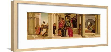 Scenes from the Story of Esther (Oil on Panel)-Filippino Lippi-Framed Art Print