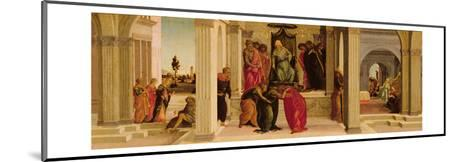 Scenes from the Story of Esther (Oil on Panel)-Filippino Lippi-Mounted Giclee Print
