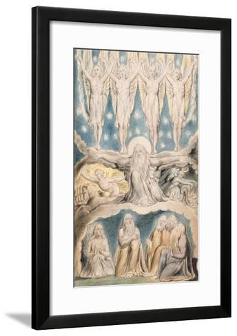 The Creation, Page 14 from 'Illustrations of the Book of Job' after William Blake (1757-1827)-John Linnell-Framed Art Print