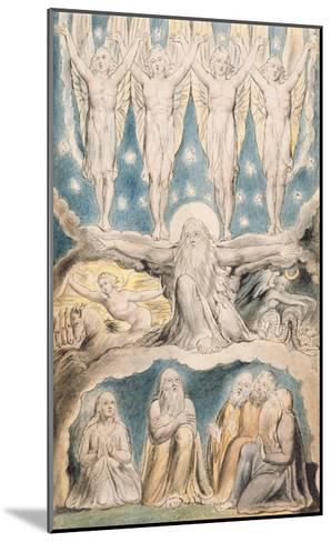 The Creation, Page 14 from 'Illustrations of the Book of Job' after William Blake (1757-1827)-John Linnell-Mounted Giclee Print