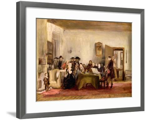 Sketch for 'The Reading of a Will', C.1820 (Oil on Board)-Sir David Wilkie-Framed Art Print