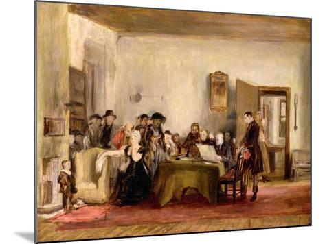 Sketch for 'The Reading of a Will', C.1820 (Oil on Board)-Sir David Wilkie-Mounted Giclee Print