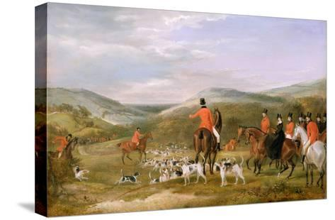 The Berkeley Hunt, 1842: the Meet-Francis Calcraft Turner-Stretched Canvas Print