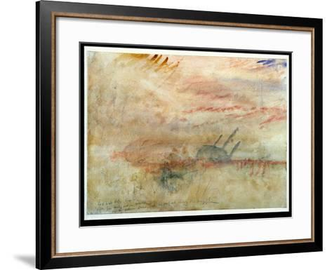 Lost to All Hope the Brig, C.1845-50 (W/C and Graphite on Wove Paper)-J^ M^ W^ Turner-Framed Art Print