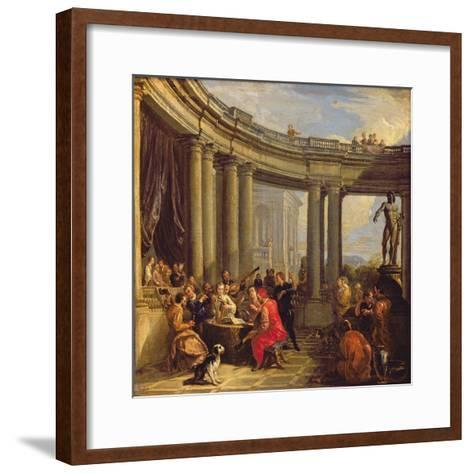Concert in a Circular Gallery, c.1718-19-Giovanni Paolo Pannini-Framed Art Print