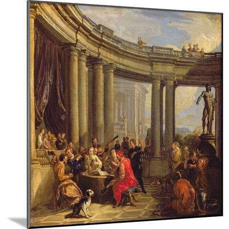 Concert in a Circular Gallery, c.1718-19-Giovanni Paolo Pannini-Mounted Giclee Print
