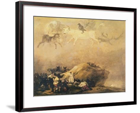Capriccio Scene: Animals in the Sky-Francisco de Goya-Framed Art Print