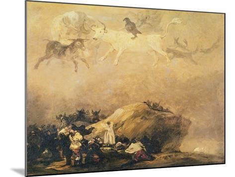 Capriccio Scene: Animals in the Sky-Francisco de Goya-Mounted Giclee Print