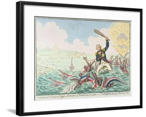 Extirpation of the Plagues of Egypt:- Destruction of Revolutionary Crocodiles, 1798-James Gillray-Framed Art Print