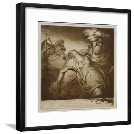King Lear and Cordelia, 1776 (Etching and Aquatint with India Ink)-James Barry-Framed Art Print