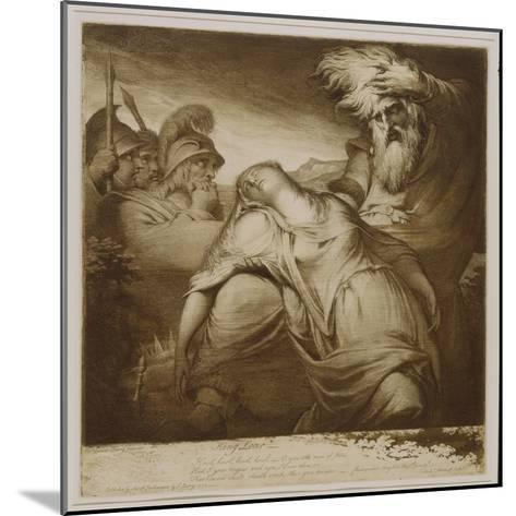King Lear and Cordelia, 1776 (Etching and Aquatint with India Ink)-James Barry-Mounted Giclee Print