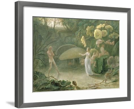 Oberon and Titania, a Midsummer Night's Dream, Act Ii, Scene I, by William Shakespeare (1566-1616)-Francis Danby-Framed Art Print