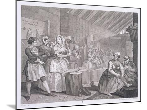 A Harlot's Progress, Plate IV, from 'The Original and Genuine Works of William Hogarth'-William Hogarth-Mounted Giclee Print