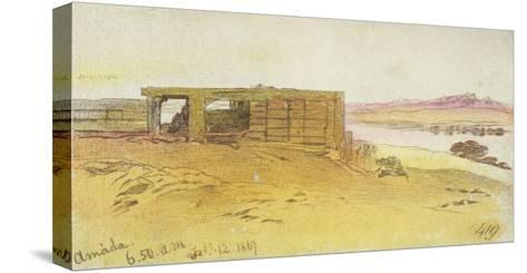 Amada, 6:50Am, 12 February 1867,(Pen and Brown Ink with Wc over Graphite)-Edward Lear-Stretched Canvas Print