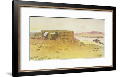 Amada, 6:50Am, 12 February 1867,(Pen and Brown Ink with Wc over Graphite)-Edward Lear-Framed Art Print