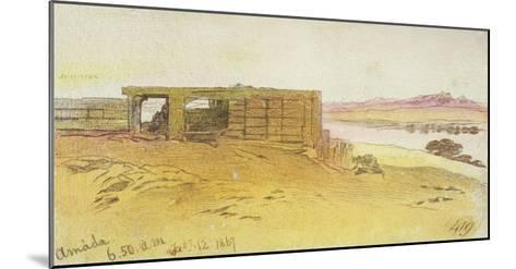 Amada, 6:50Am, 12 February 1867,(Pen and Brown Ink with Wc over Graphite)-Edward Lear-Mounted Giclee Print