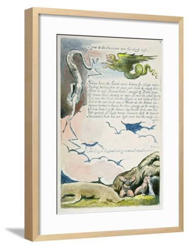 Appear to the Americans...', Plate 6 from 'America: a Prophecy', 1793-William Blake-Framed Art Print