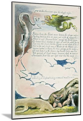 Appear to the Americans...', Plate 6 from 'America: a Prophecy', 1793-William Blake-Mounted Giclee Print