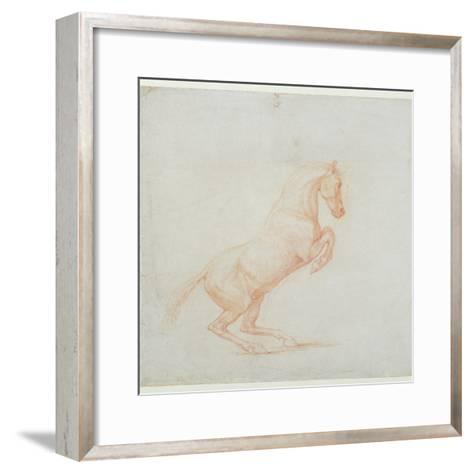 A Prancing Horse, Facing Right, 1790 (Red Chalk on Paper)-George Stubbs-Framed Art Print