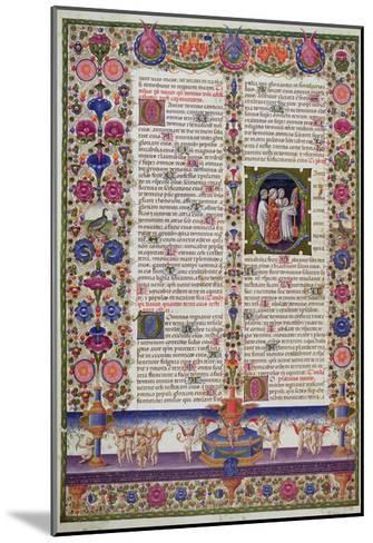 Illuminated Page from the Book of Psalms, from the Borso D'Este Bible. Vol 1 (Vellum)-Italian-Mounted Giclee Print