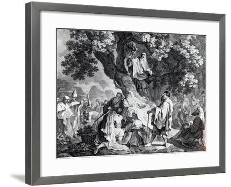 The Druids, or the Conversion of the Britons to Christianity, Engraved by Simon Francois Ravenet-Francis Hayman-Framed Art Print