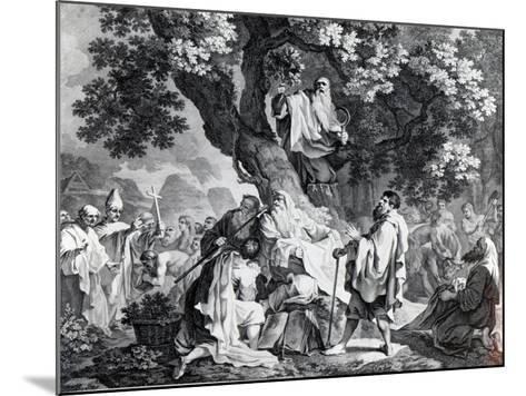 The Druids, or the Conversion of the Britons to Christianity, Engraved by Simon Francois Ravenet-Francis Hayman-Mounted Giclee Print