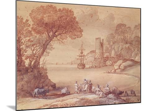 The Rape of Europa, 1655 (Pen, Ink and Wash)-Claude Lorraine-Mounted Giclee Print