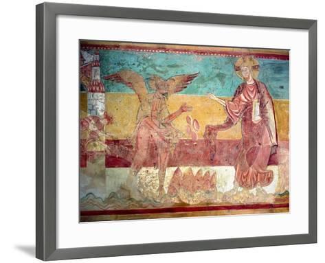 Temptation of Christ in the Desert by the Devil, 12th Century (Fresco)-French-Framed Art Print