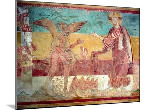 Temptation of Christ in the Desert by the Devil, 12th Century (Fresco)-French-Mounted Giclee Print