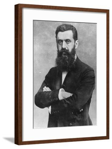 Theodor Herzl, 1903 (B/W Photo)- Austrian Photographer-Framed Art Print