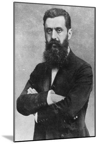 Theodor Herzl, 1903 (B/W Photo)- Austrian Photographer-Mounted Giclee Print