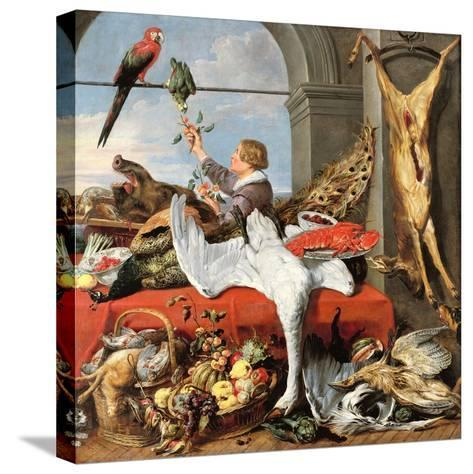 Interior of an Office, or Still Life with Game, Poultry and Fruit, c.1635-Frans Snyders Or Snijders-Stretched Canvas Print