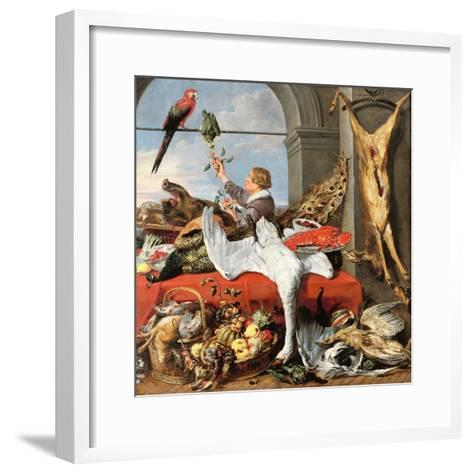 Interior of an Office, or Still Life with Game, Poultry and Fruit, c.1635-Frans Snyders Or Snijders-Framed Art Print