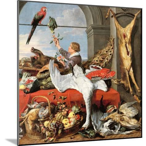 Interior of an Office, or Still Life with Game, Poultry and Fruit, c.1635-Frans Snyders Or Snijders-Mounted Giclee Print